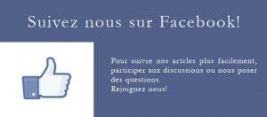 Suivez nous sur Facebook!